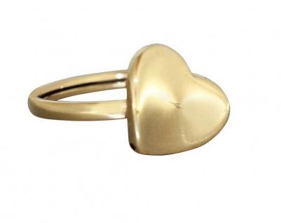Ring Gold 585 Herz Goldring mit geschwungenem Herzen 14 Karat Damenring Goldherz