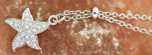 Silberkette und Anhänger 925 kleiner Stern mit Zirkonias Kette Silber Sternchen