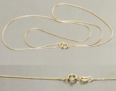 Schlangenkette echt Gold 585 hochglänzende massive 45 cm Goldkette Halskette