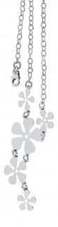 Silberkette 925 mit Blumen Anhänger Y-Kette Silber Collier Kette Sterlingsilber