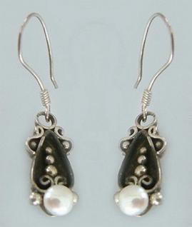 Ohrhänger Silber 925 mit Perlen elegante Ohrringe Silberohrschmuck