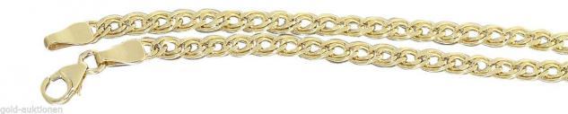 19 cm Armband Gold 333 funkelnd geschliffen Goldarmband Karabiner Armkette 8 kt