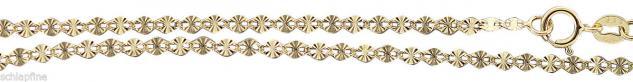 45 cm Goldkette 585 - zarte Plättchenkette - Kette Gold 14kt Halskette - Collier