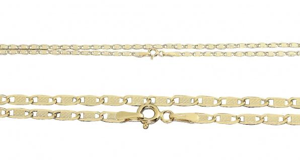 Goldkette 585 flache Halskette Collier 50 55 cm Kette Gelbgold 14 Karat - Vorschau