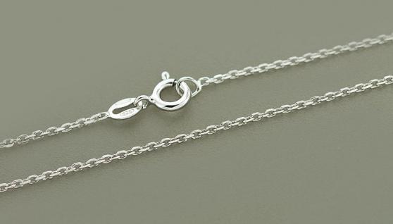 90 cm lange massive Silberkette 925 Halskette Gliederkette Kette rhodiniert