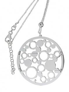 Kette Silber 925 großer runder Anhänger beweglich Silberkette Halskette Collier