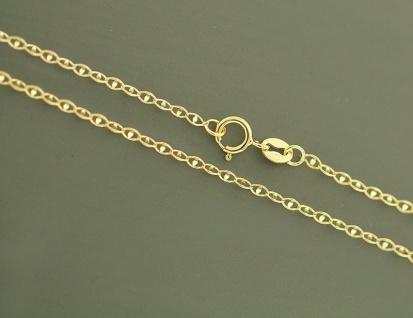 Goldkette 585 zarte funkelnde Kette Gold Halskette Gliederkette 45 cm Collier