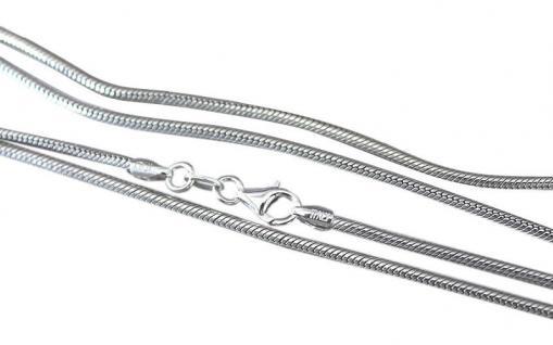75 cm lange Schlangenkette echt Silber 925 massiv starke Silberkette Halskette