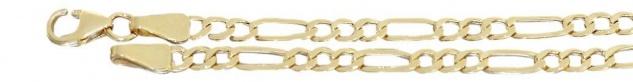 19, 5 cm Figaroarmband Gold 333 Armband Gold Goldarmband mit Karabiner Armkette
