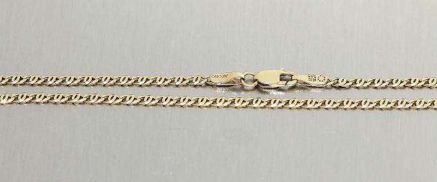 Massive Kette Gold 585 - 42 cm lang - Goldkette - Kette in 14 kt Gold Halskette