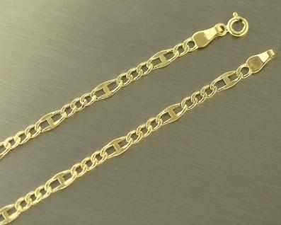 45 cm dekorative Panzerkette - Kette Goldd 585 - Halskette - Goldkette 14 Kt