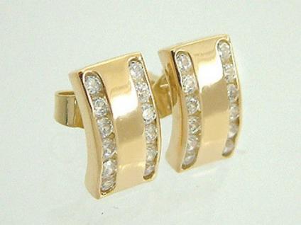 Traumhafte Ohrstecker aus Gold 750 Zirkonia Ohrschmuck Top Design Ohrringe