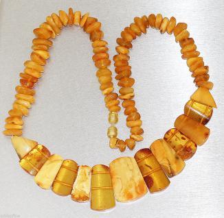 Halskette aus Bernstein, 55 cm lang, Bernsteinkette, Kette, Collier