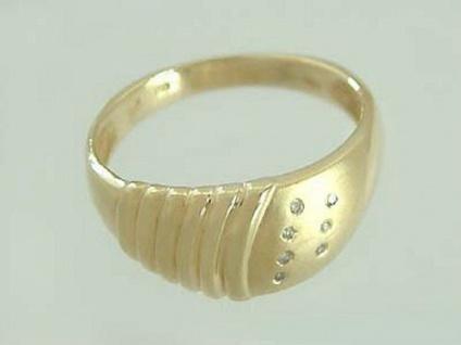 Eleganter Diamantring Ring Gold 585 mit 7 Diamanten Goldring Damenring 14 kt