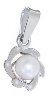 Kleiner Anhänger Weißgold 585 mit Perle Weißgoldanhänger kleiner Perlenanhänger