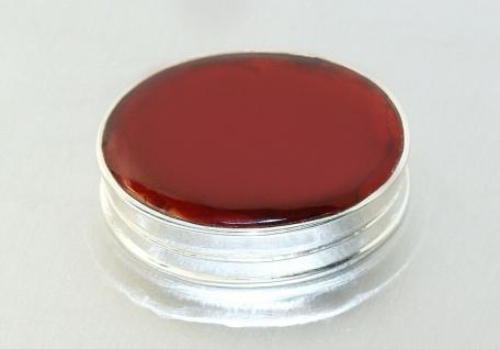 Ovale Silberdose 925 Pillenbox massiv mit Achat Sterlingsilber 15, 2 gr.