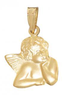 Schutzengel Gold 585 Raffael Anhänger Goldanhänger Engel Kommunion