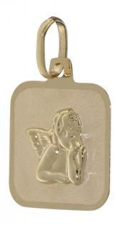 Schutzengel Anhänger Gold 585 - Goldanhänger zur Kommunion Engel 14 kt Goldengel