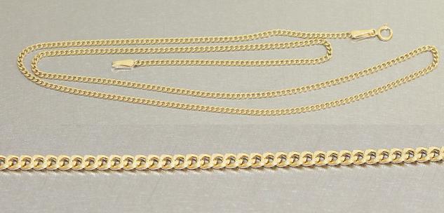 45 / 50 cm feine Panzerkette Gold 585 / 14 kt Goldkette - Halskette Kette Gold