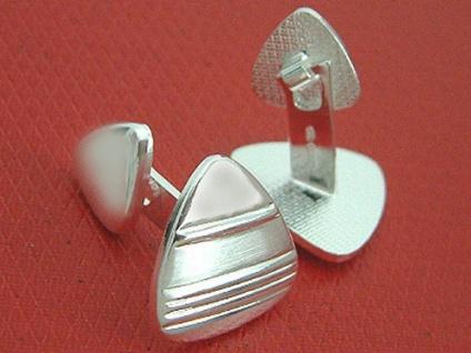 Massive Manschettenknöpfe in Silber 925 top Design Silbermanschettenknöpfe
