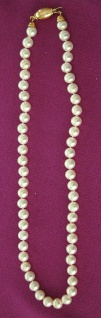 Echte Perlenkette Collier Goldverschluss 750 Kette geknüpft Halskette