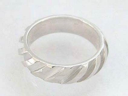 Massiver Silberring 925 - Bandring - Ring Silber massiv Damenring matt glänzend