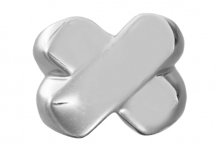 Ring Silber 925 massiv X Design schwerer Silberring Damen