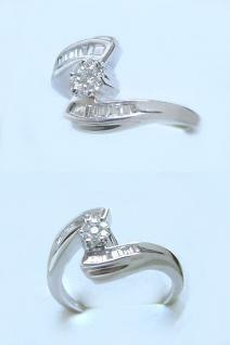 Traumhafter Brillantring Weißgold 750 edler Ring Weißgoldring 18 kt Gold - Damen