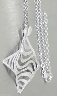 Tolles Collier Silber 925 - Silberkette mit Anhänger Kette Silber Collier modern