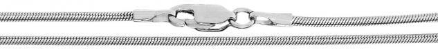 45 cm massive Schlangenkette Silber 925 Kette mit Karabiner Silberkette 1, 6 mm