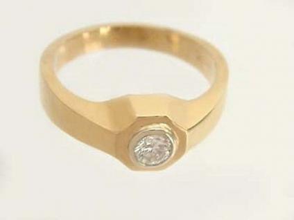 Herrenring Brillantring 0, 26 ct. massiver Goldring 585 Solitärring Ring Gold