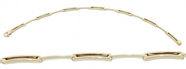 Feines massives Armband Gold 585 - edles Goldarmband 14 kt Armkette Gold 6, 7 gr.