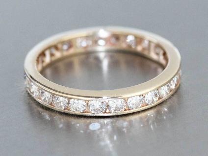 Memoryring Gold 585 mit Brillanten 1, 1 ct. Brillantring Ring 14 Karat Gelbgold