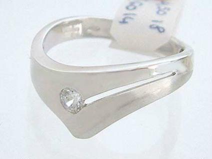 Moderner Weißgoldring 585 mit Zirkonia - Ring Weißgold 14 kt - Damenring Gold