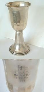Union Yachtclub Traunsee - großer Silberpokal von 1929 - Pokal Silber 545 gr.