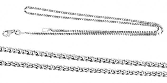 Panzerkette Silber 925 Silberkette 42 cm Karabiner Halskette massiv Collier