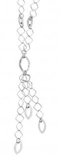Kette Silber 925 Y-Kette Anhänger lang Collier Halskette Top Design Damen massiv