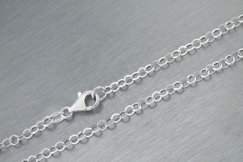 Silberkette 925 massiv Sterlingsilber rhodiniert super Halskette 45 50 cm Kette