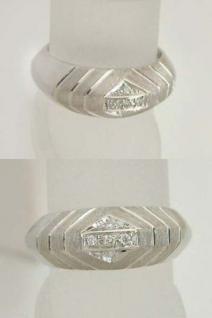 Designerring Weißgold 585 mit Brillanten - Ring Weißgold Brillantring Gold 14 kt