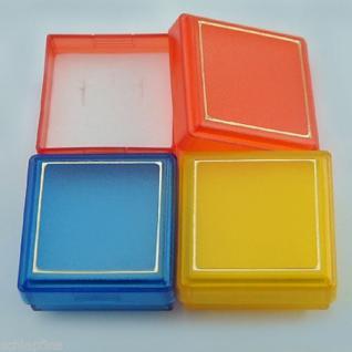 100 Stk. stabile Schmuckboxen Etui Schmucksschachtel 4 cm Box blau rot gelb grün