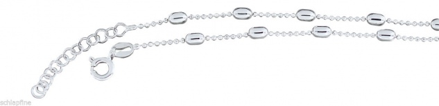Trendy Fußkettchen Silber 925 - Kugelkette - Fußkette Sterlingsilber Silberkette