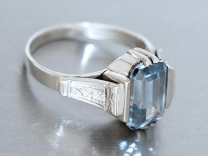 Ring in Silber (800) mit 1 Schmuckstein in topazblau Silberring