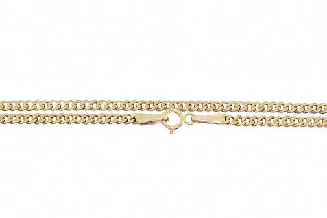 50 / 55 cm Panzerkette Gold 585 Halskette Goldkette Kette 14 Kt Gelbgold