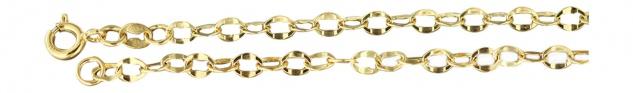 45 cm Goldkette 585 - grobgliedrige Halskette - Gliederkette Gold - Collier 14kt
