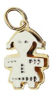 Kleines Mädchen Gold 585 zweifärbig - Anhänger Püppchen Goldanhänger Puppe 14 kt