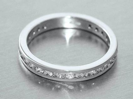 Eternityring Memoryring Weissgold 585 Ring - Weissgoldring 14 kt mit Zirkonias