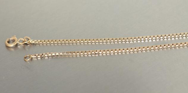 45 / 50 cm Venezianerkette Gold 585 feine massive Goldkette Halskette 14 Karat