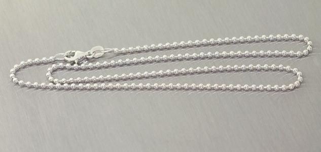 42 cm Kugelkette Silber 925 massiv Silberkette Halskette Kette Silber Karabiner