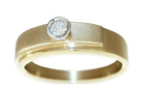 Ring Gold 585 Brillant Solitär 0, 09 ct. Damen 14 Kt. Diamantring