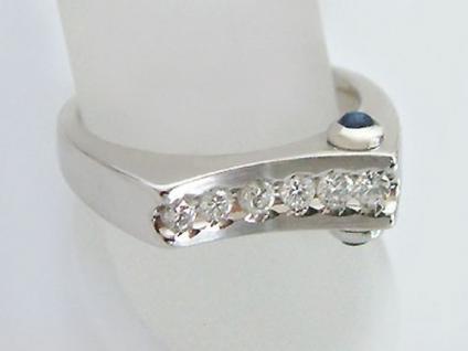 Brillantring 0, 21 ct. Designerring Ring Weißgold 585 Brillant Saphir Goldring - Vorschau 2